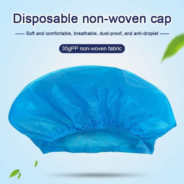 Disposable Non-woven Bouffant Caps 35g PP