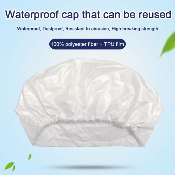 Waterproof Disposable Caps Polyester Fiber Bouffant Hats