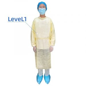 Disposable Isolation Gown Level 1 Splash Resistant-25gSMMS
