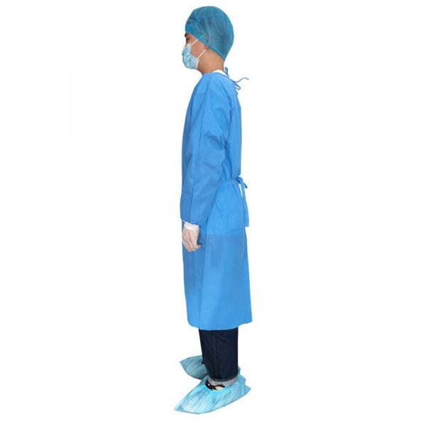 Disposable Isolation Gown Level 3 Splash Resistant-45gSMMS
