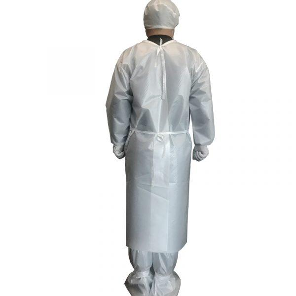Level 1, Level 3 Isolation Gown Set: Inverted Coat + Cap + Shoe Cover
